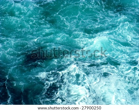 Fresh water background in turquoise color - stock photo