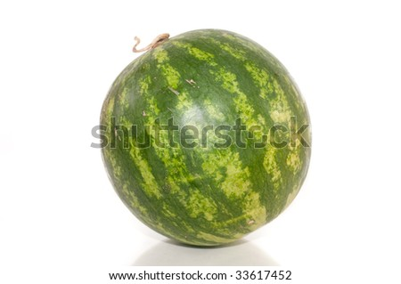 Fresh water melon isolated on a white background