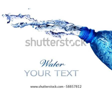 Fresh Water Splashing Over White - stock photo