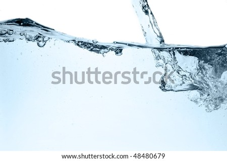 Fresh water with bubbles, abstract background