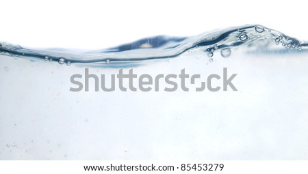 fresh water with bubbles (series) - stock photo