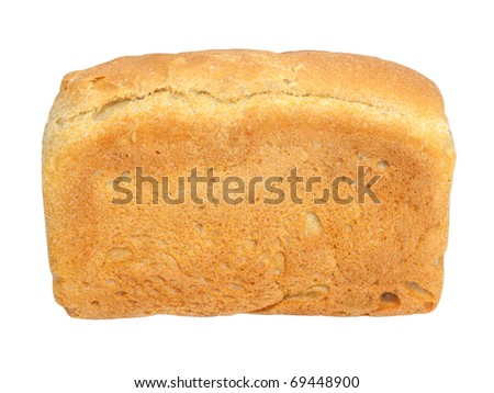 Fresh wheat bread. Isolated on white background - stock photo