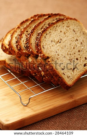 fresh whole wheat bread - food and drink