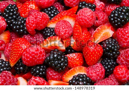 Fresh wild berries - stock photo