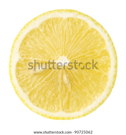 fresh yellow lemon isolated on white - stock photo