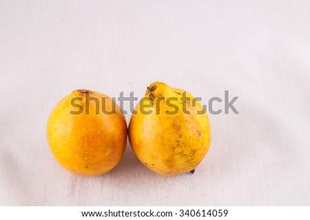 Fresh Yellow Ripe Maracuya Tropical Passion Fruit - stock photo