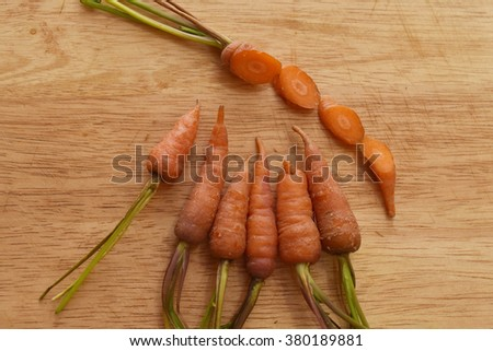 fresh young carrots - stock photo