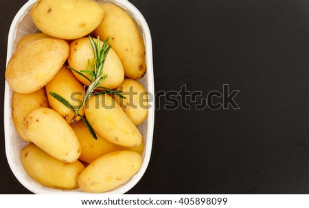 fresh young potatoes - stock photo