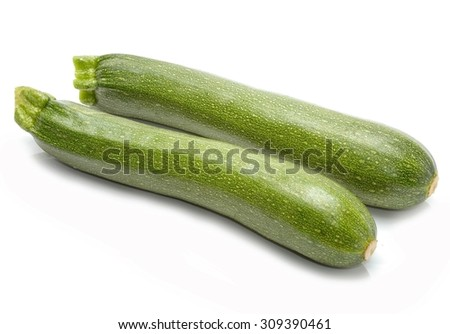 Fresh zucchini - stock photo