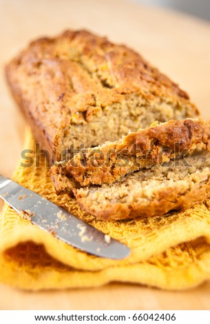 Freshly Baked Banana Bread - stock photo