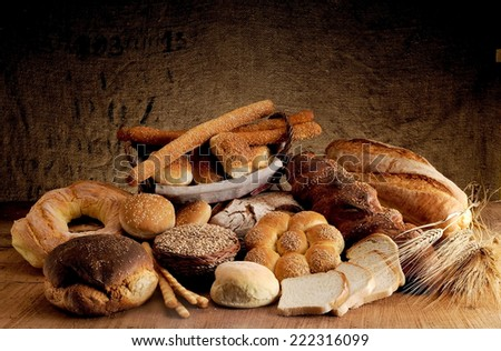 Freshly baked crusty bread, baked in a traditional wood stove