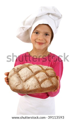 Freshly baked loaf of bread - stock photo