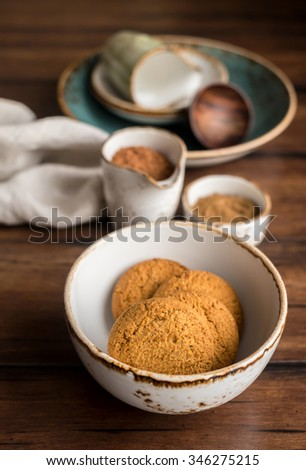 Cup Coffee Chocolate Sweets On Black Stock Photo 44163424 ...
