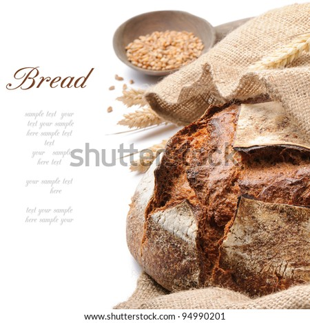 Freshly baked traditional bread - stock photo