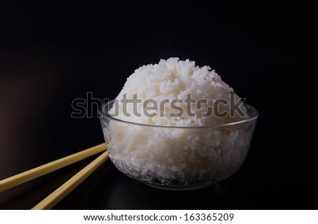 Freshly cook rice - stock photo