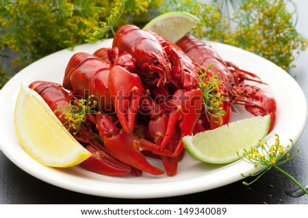 Freshly Cooked Crayfish - stock photo