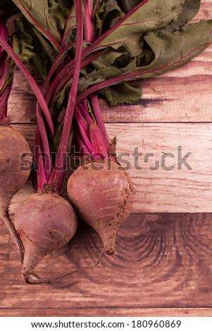 Freshly Picked Beets - stock photo