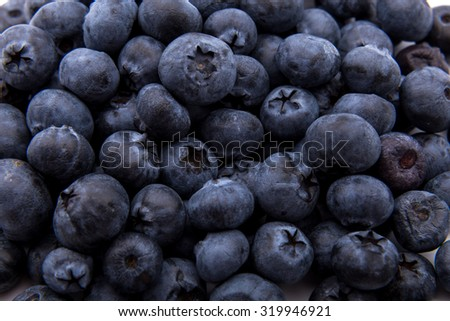 Freshly picked blueberries background pattern - stock photo