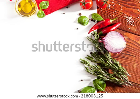 Freshness Food Ingredient with Copy Space - stock photo