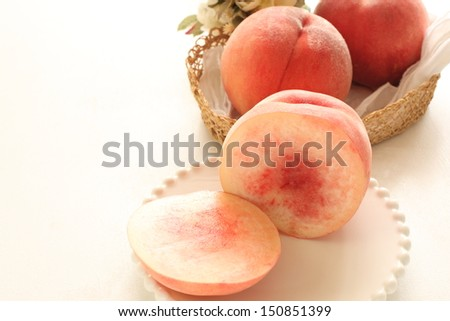freshness white peach from Japanese for gourmet food