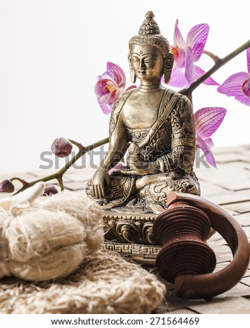 friction and massage for zen spa treatment - stock photo