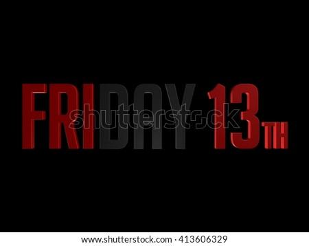 Friday 13th - stock photo