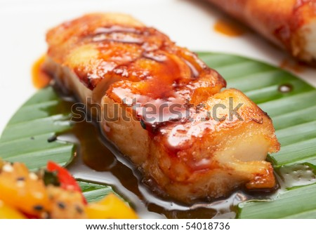 Grilled Asian Style Wild Black Cod