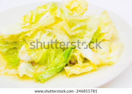 fried cabbage with fish sauce