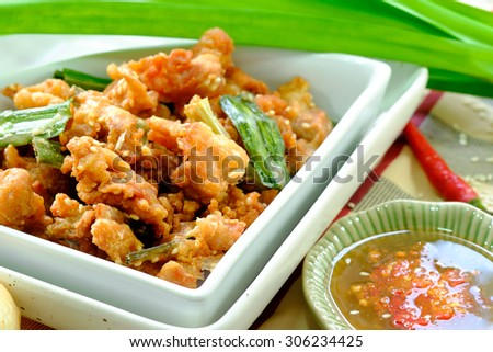 Fried chicken and sesame