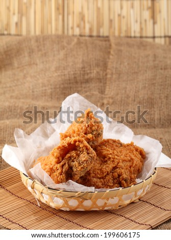 fried chicken breast  - stock photo