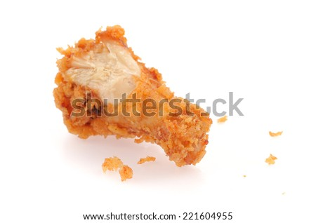 fried chicken drumsticks isolated on white background