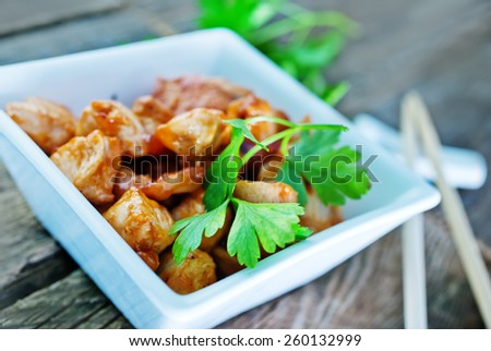 fried chicken fillet - stock photo