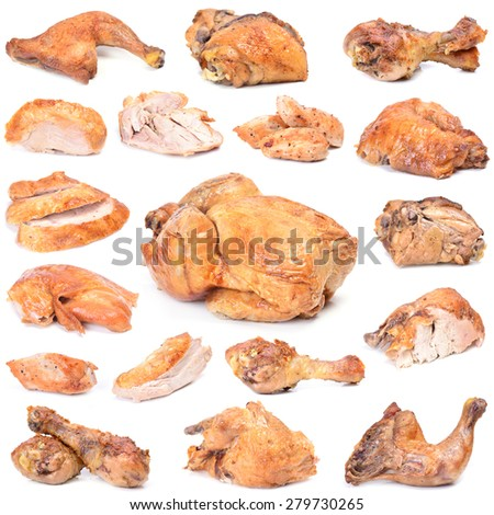 Fried chicken for every taste - stock photo