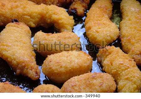 fried chicken strips nuggets