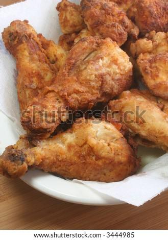 Fried Chicken (vertical) - stock photo