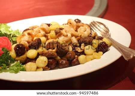Fried chinese herb food - stock photo