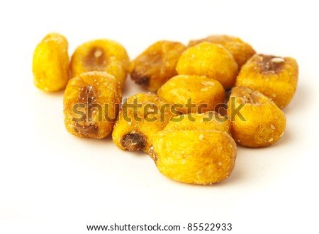 fried corn isolated on a white background - stock photo