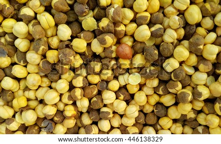 Fried dhal nuts, an indian snack - stock photo
