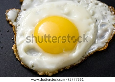 Fried egg in a griddle