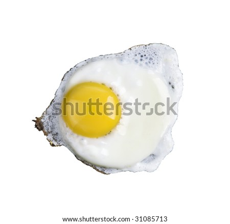 fried egg, isolated on a white background