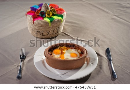 Fried egg on Mexican