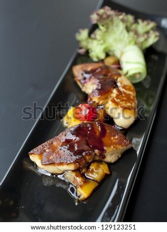 Fried foie gras - stock photo