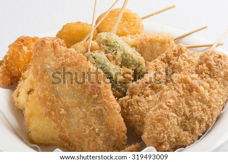 Fried food - stock photo