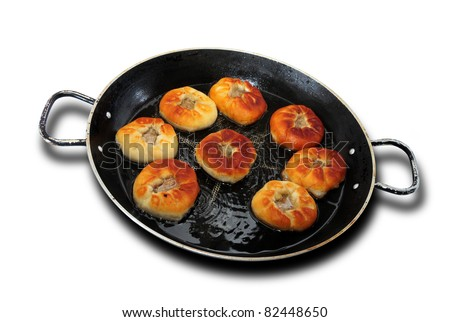fried in a skillet belishev - stock photo