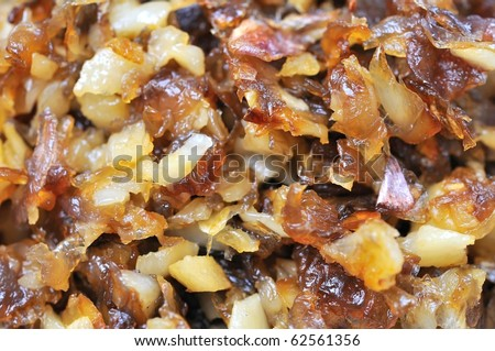 Fried onion and garlic as food ingredients in a wide variety of Asian and Oriental cuisine.