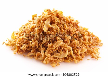 Fried onions - stock photo
