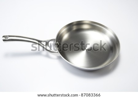 Fried pan in white background - stock photo