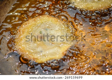 fried pastry - stock photo