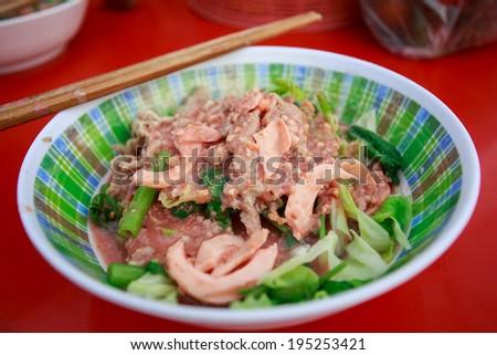 Fried pork Sukiyaki - stock photo