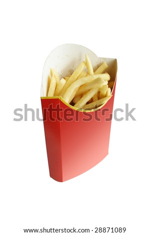 fried potatoes in the red package
